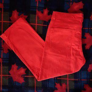 Red/Orange Capri Pants